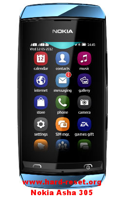 How to Safety Factory Default Nokia Asha 305 Format & Master