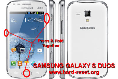 How to Easily Master Format SAMSUNG GALAXY S DUOS GT-S7562