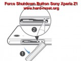 hard reset sony xperia z1 force shutdown button