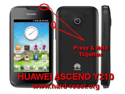 Option 2, Hard Reset HUAWEI ASCEND Y210 / Y210D / Y210C (U8685) with