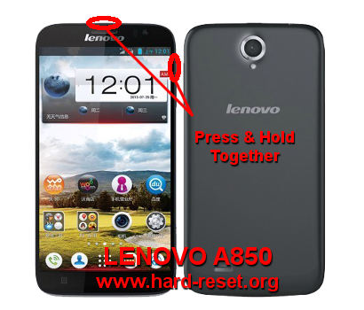 How to Easily Master Format LENOVO A850 with Safety Hard Reset