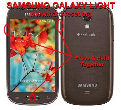 #Option 2, How To Hard Reset SAMSUNG GALAXY LIGHT ...