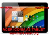 hard rese tacer iconia a3 tablet