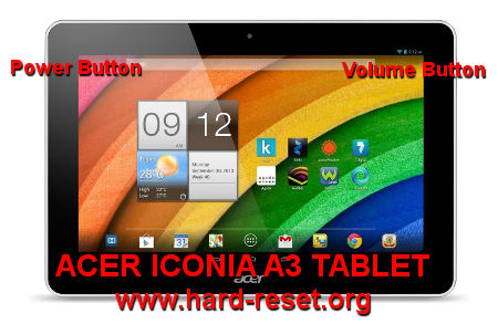 Hard Reset Tablet Acer Iconia Hard Reset Acer Iconia a3