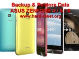 backup restore data asus zenfone 4 / 5 / 6