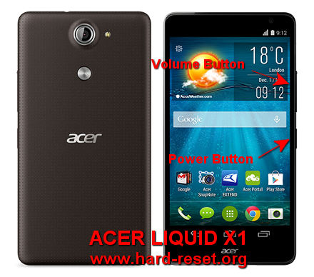 hard reset acer liquid x1 - master format to factory default