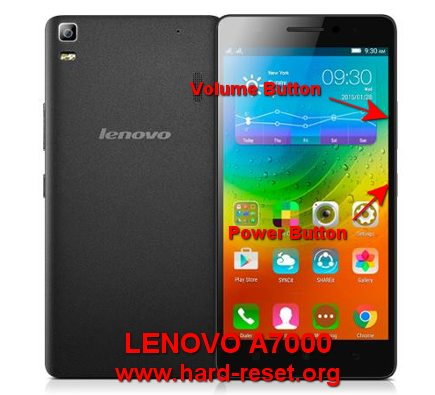 hard reset lenovo a7000 to factory default