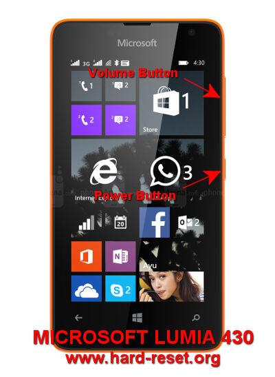 hard reset microsoft lumia 430