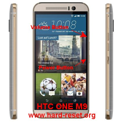 hard reset htc one m9