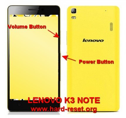 hard reset lenovo k3 note (K50-T5) to factory default