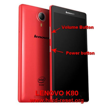hard reset lenovo k80 to factory default