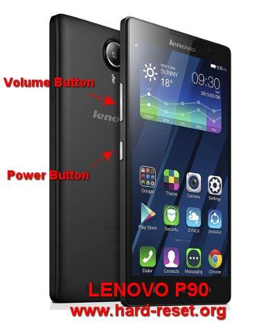 hard reset lenovo p90 to factory default