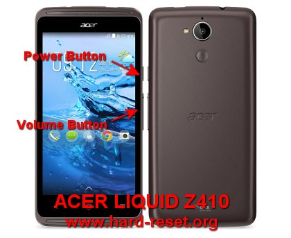 hard reset acer liquid z410