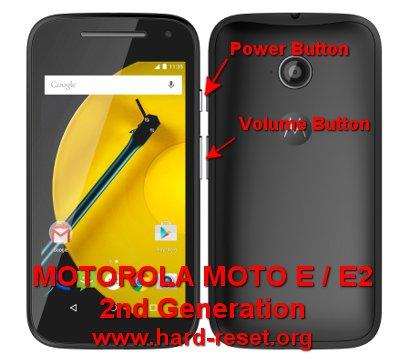 hard reset motorola moto e 2nd generation / moto e2