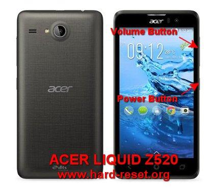 hard reset acer liquid z520