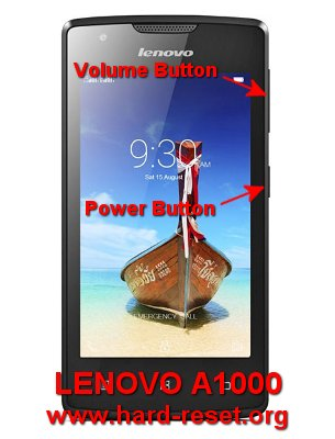 How to Easily Master Format LENOVO A1000 with Safety Hard Reset