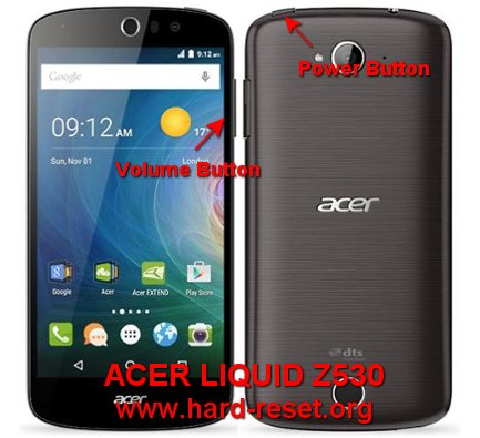 hard reset acer liquid z530