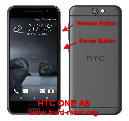 hard reset htc one a9