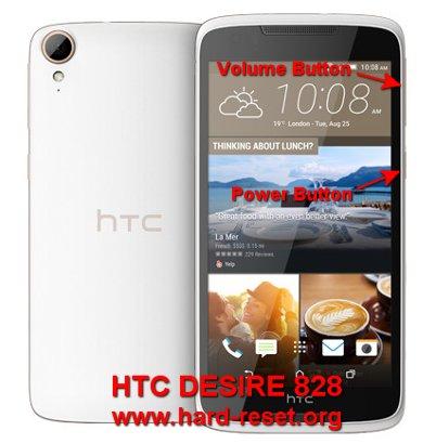 hard reset htc desire 828