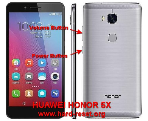 hard reset huawei honor 5x
