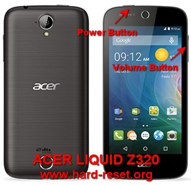 hard reset acer liquid z320