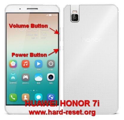 hard reset huawei honor 7i