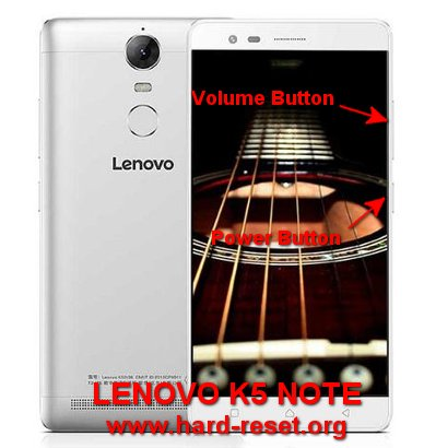 hard reset lenovo k5 note