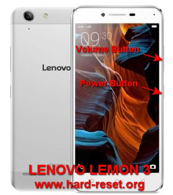 hard reset lenovo lemon 3
