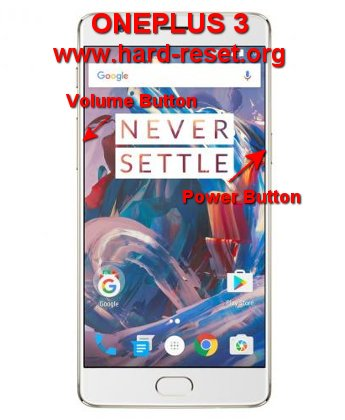 hard reset oneplus 3 / three