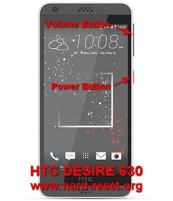 hard reset htc desire 630