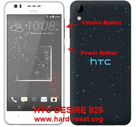 hard reset htc desire 825