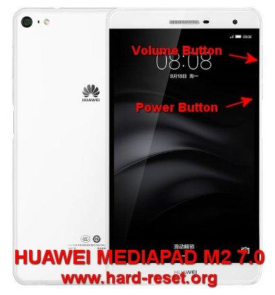 hard reset huawei mediapad m2 7 inches