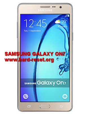 hard reset samsung galaxy on7 pro