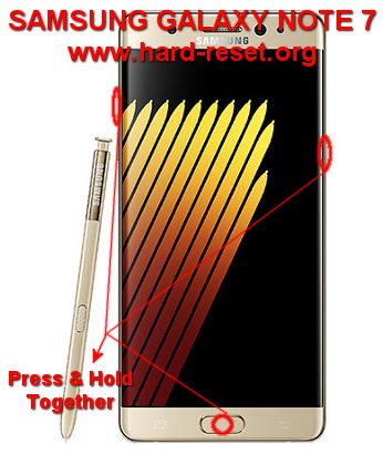 hard reset samsung galaxy note7
