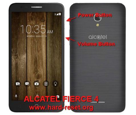 hard reset alcatel fierce 4