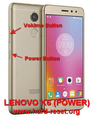 hard reset lenovo k6 / k6 power