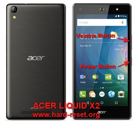 hard reset acer liquid x2