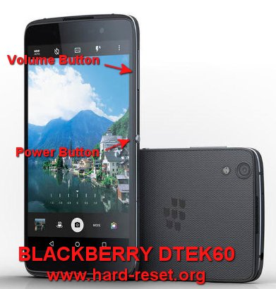 hard reset blackberry dtek 60