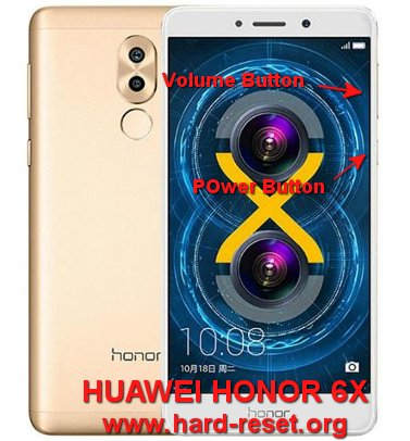 hard reset huawei honor 6x