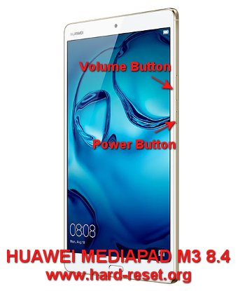 hard reset huawei mediapad m3 8,4 inches