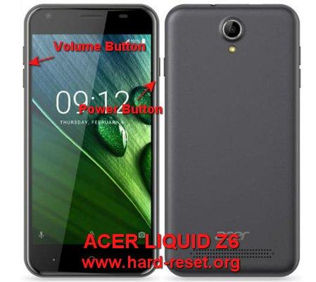 hard reset acer liquid z6