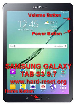 hard reset samsung galaxy tab s3 9,7 inches