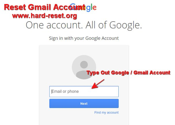 easy reset google account