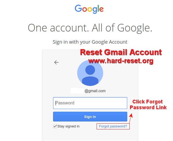 easy reset google account forgot password