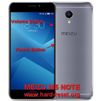 hard reset meizu m5 note