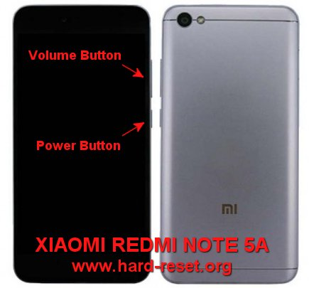 hard reset xiaomi redmi note 5a