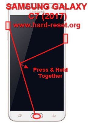 hard reset samsung galaxy c7 (2017) / j7plus (c710 / c700)