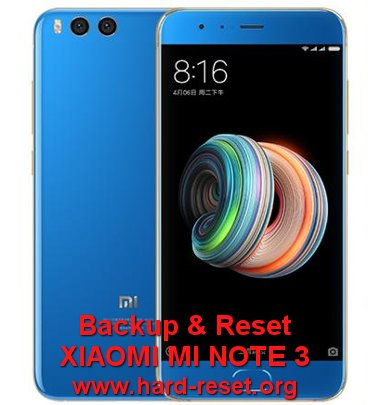 backup restore data xiaomi mi note3