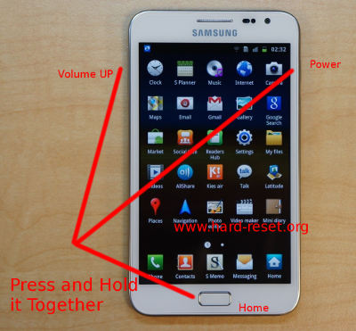 Goede How to Format Factory Default Samsung Galaxy Note N7000 with Easy NC-55