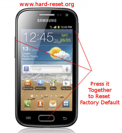 How to Safety Master Reset SAMSUNG GALAXY ACE 2 I8160 ...